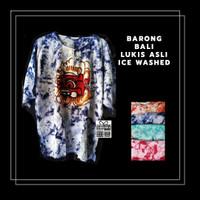 Terbaik! Kaos Barong Asli Lukis Bali Ice Washed 3L LbrDada 62-65 PJ 72