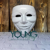 Topeng Anonymous Putih Polos / Topeng Hacker / Anonymous Mask