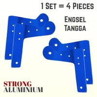 Besi Engsel Tangga Lipat Aluminium // 1 set isi 4 buah