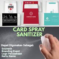 Hand Sanitizer Spray Card - Wedding/Company Souvenir 2 Sisi
