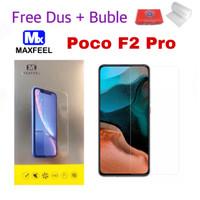 MAXFEEL Tempered Glass Poco F2 Pro Clear Premium Glass