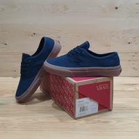 sepatu sneakers pria wanita vans authentic mono dress blue gum