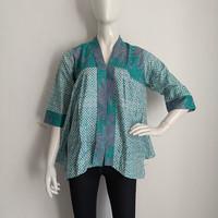 blouse batik wanita motif garutan kutubaru size M L XL/baju batik