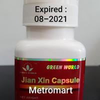 JIAN XIN CAPSULE GREEN WORLD / OBAT JANTUNG / NYERI DADA