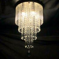 LAMPU GANTUNG HIAS KRISTAL CRISTAL MINIMALIS 3 LAMPU 4 SUSUN