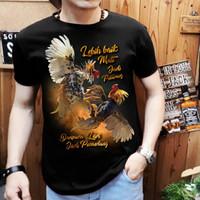 t-shirt atasan kaos pria keren gambar ayam emas