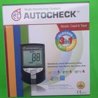 Autocheck 3 in 1 / alat cek gula darah kolesterol dan asam urat