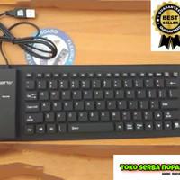 Keyboard Luar External USB FLEXIBLE Karet USB KEYBOARD Laptop Komputer