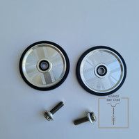F+ Silver 55mm Aluminum Union Jack Easy Wheel