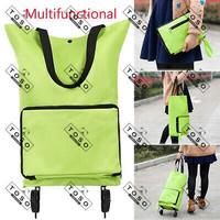 Tas Belanja Lipat Roda Shopping Trolley Bag Troli Bag Traveling Bag