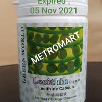 LECITHIN SOFTGEL GREEN WORLD/ OBAT BATU EMPEDU/KOLESTEROL/KESEMUTAN