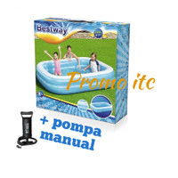 Kolam Renang Plastik Bestway (262 x 175 x 51cm) + Pompa Manual 12