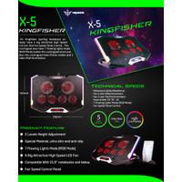 NYK X5 Kingfisher Gaming Cooling Pad Cooler Fan Kipas Laptop X-5