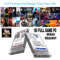 Hardisk HDD Eksternal Transparent 320GB 500GB 1TB 2TB Isi Full Game PC