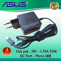 Adaptor Charger Laptop Asus E202 E202SA E202S X205 TP200 19V-1.75A USB