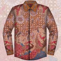 Kemeja Batik Tulis Sutera Asli Pekalongan/Kuto Kalong/Baju Pria - 003