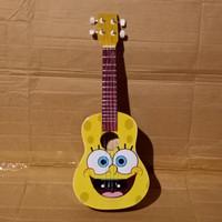 Ukulele / Kentrung / Kencrung Motif Senar 4 - Spongebob Squarepants 3
