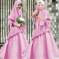 Gamis Syari Anak 8 10 tahun Karisma Pink Baju muslim anak perempuan