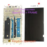 LCD TOUCHSCREEN OPPO R7S + FRAME FULLSET - Putih