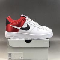 Sepatu Sneakers Nike Air Force 1 07 Lv8 NBA White Red