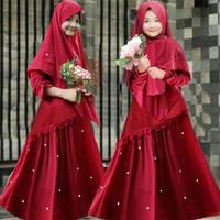 Gamis Syari Anak 8 10 tahun Karisma Maroon Baju muslim anak perempuan