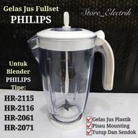 gelas blender philips 1set untuk tipe HR-2115 HR-2116 HR-2061 HR-2071