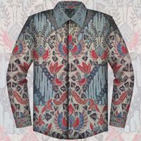 Kemeja Batik Tulis Sutera Asli Pekalongan Kuto Kalong Baju Pria - 001