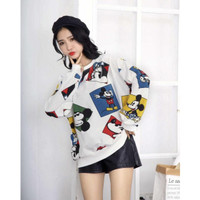 SS04 Sweater oversize motif mickey minnie square