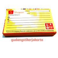 stiker pengiriman olshop motif shopie