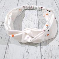 Bando bandana wanita batik jumputan - Putih