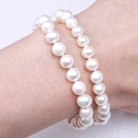 Gelang Mutiara Elastis 8mm Beads Pearl Korean Bracelet Handmade