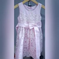 Preloved Dress Pesta Anak Pink 3 & 4 y