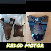 Cover Body Reksil Kunci Atas Bawah + Tameng Dasi Hitam Supra X 125