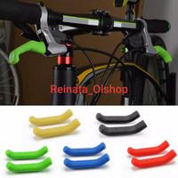 Karet Silikon Pelindung Tuas Rem Sepeda Handle Brake Cover 2 Pcs