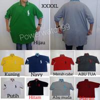 polo shirt jumbo/big size/ralph Laurent#kaos kerah polo