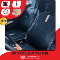 Sarung jok mobil Suzuki APV Otomotifku Berkualitas Bahan Myo Leather