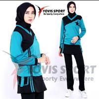 baju senam wanita terbaru / yovis sport / hijau toska