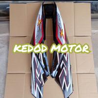 Cover Body Samping - Belakang Supra X 125 Hitam + Striping