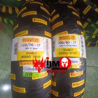 paket ban pirelli diablo rosso sport 100-80-17 / 120-70-17
