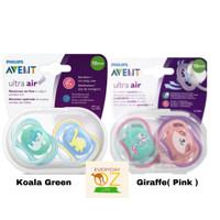 Avent Ultra Air Soother 18+ Months 2 Pack Pacifier Empeng Dot bayi