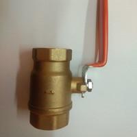 Ball valve kuningan onda drat 3/8 inch / Stop kran onda