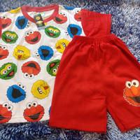 setelan baju anak laki laki - 6 th ElmoKuning