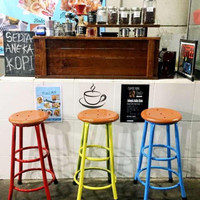 Kursi Bar/kursi Tinggi/kursi Cafe /kursi kopi/Bangku Murah/Kursi Retro