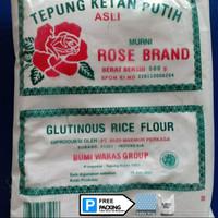 Tepung Ketan Putih Rose Brand 500gr Glutinous Rice Satuan READY