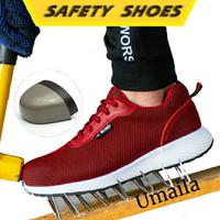 SEPATU SAFETY SHOES SPORT (SS01) RINGAN (UJUNG BESI)