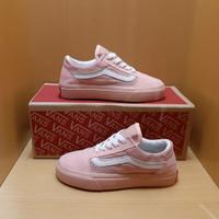 Sepatu Anak Vans Pink Putih Premium Inport - 24