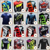 Baju Sepeda MTB Jersey Oneal Blue+black