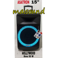 SPEAKER ASATRON HOLLYWOOD 15 INCH PORTABLE MEETING BLUETOOTH FREE MIC