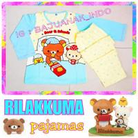 Piyama anak 7-16 thn SANRIO Rilakkuma kaos lembut printing terbaru
