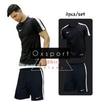 Paket baju celana olahraga pendek running training bola futsal